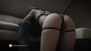 I tease him with my hot lingerie and he cums in my mouth - Diana and Daniel