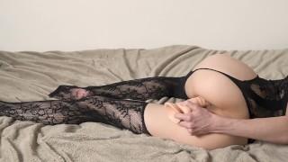 Hot Liza Shultz masturbations with her dildo.