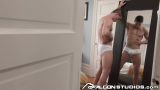 FalconStudios Spying on Hunk Roman Todd in His Tighty Whities