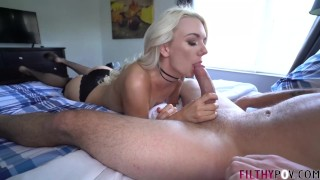 Cuck Husband Watches Hot Blonde Wife Fuck Stud! FilthyPOV