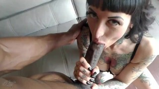Isiah Maxwell Creampies Tattooed Goth MILF Jessie Lee