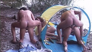 real german groupsex beach party