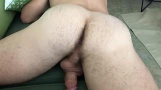 Nice Hairy Butt Massaged and Jerked