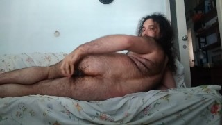 Deep & wide: man puts toy, fist in ass at the same time, cum handsfree 5:24