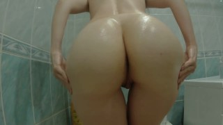 Oil + great ass + big cock = what could be better?
