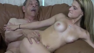 Horny old man fuck grandsons girlfriend HOPE HARPER