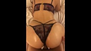 curvy milf big booty sexy lingerie fuck from back orgasm