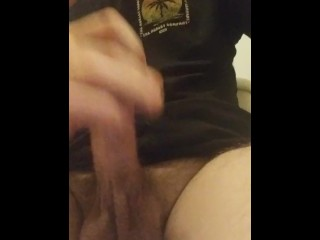 Jacking off while grandma is in next room watching T.V.