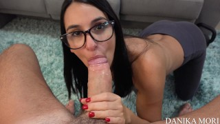 POV - Special kiss with HAPPY ENDING for Steve's big cock