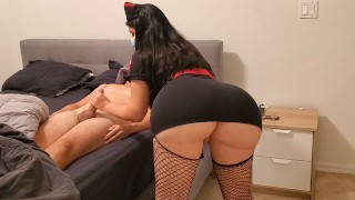 Big Ass Sexy Nurse treats patient with Corona Virus