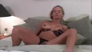Naturally Busty Housewife Using Her Dildo To Arouse