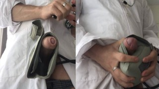 Medical student fucks a tensiometer found in a box