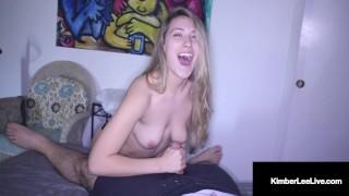 Masterful Mouth Fucker Kimber Lee Milks Her Man!