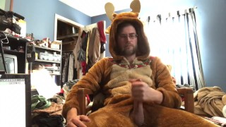 Holiday reindeer cosplay