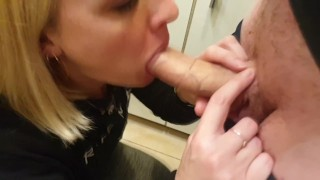 When hubby walks in with his cock out, you gotta suck it, right? xxx