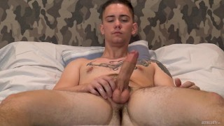 ACTIVEDUTY Young Straight Army Guy Jerks Off To Camera