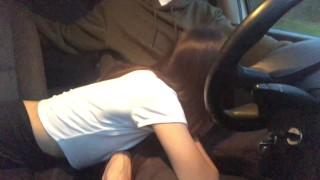 RISKY Asian Teen Sucks while Car Driving, Rides for Creampie in Public Park