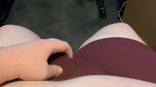 Fat Solo Ginger Cums in Too Tight Boxers