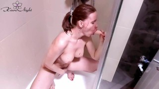 Hot Student Shower and Masturbate after Watching Porn