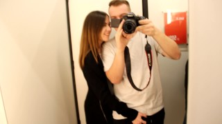 Relax, public sex in the fitting room and sweet blowjob, cumshot in mouth