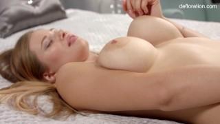 Christy Tokareva super hot blonde virgin babe big tits masturbates