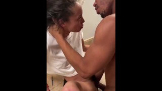 Slim ebony gets fucked hard