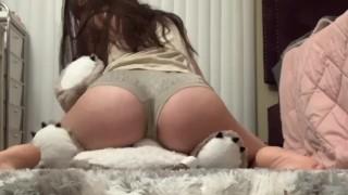 Humping my favorite plushie/stuffie to orgasm