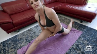 Step Mom Yoga Instructor Fucked by Step Son with Huge Cock - Cory Chase