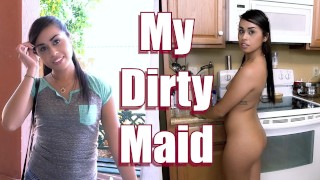 BANGBROS - Petite Maid Eva Saldana Sucks & Fucks For Extra Dinero