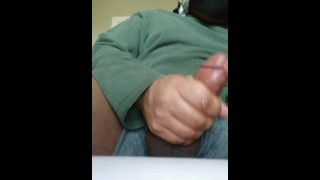 Squeezing Balls, Stroking Cock, SHOOTING MULTIPLE HUGE LOADS