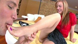 BANGBROS - Admire Her Pretty Purple Toe Nails As She Gives You The Best FJ