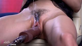 Sex machine Torture my Pussy,i get multi Squirt Orgasm