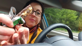 SFW Eating My Lunch In My Car