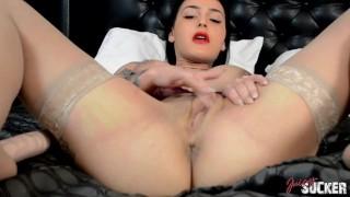 Roselyne Simone busty pornstar's solo - Full Scene
