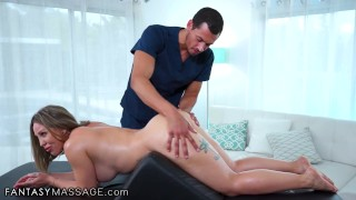 FantasyMassage Her Bolster Massage Turns Into A Real Anal Pleasure