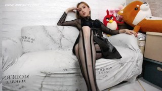 ABC027 Mistress Abby Kitty humiliation make you got very hard 黑丝高跟女王艾爷第一视角言语羞辱-english