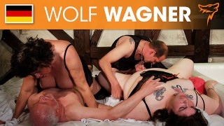 Two nymphomanic couples have a hot fuckaround with squirt action! WOLF WAGNER