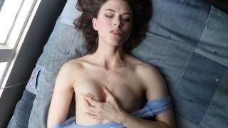 Bored Girl Masturbates to Ceiling Titty
