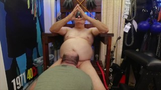 Sir T makes me give him a tongue bath to clean his sweaty pits, balls, and cock.