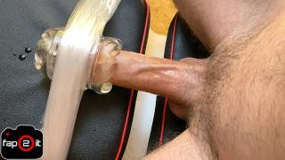 Amateur Guy Moaning Non Stop While Fucking Fleshlight Until Cum - 4K