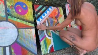 "I Paint NAKED ""Quatro"" Part III"