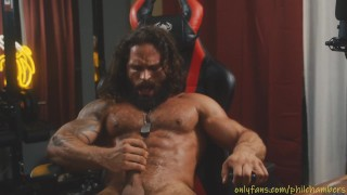 Phil Chambers beating his meat and cumming like a beast