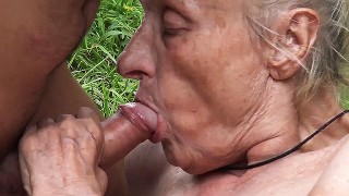 ugly 86 years old mom public banged