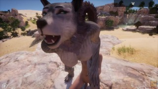 Wild Life / Furry Wolf girl Rasha Porn HD