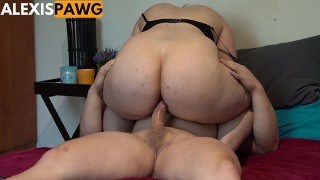 Juicy Jiggly Ass Pawg Gets Anal Creampie in White Ankle Socks!