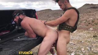 Dante Colle Fucks Johnny Hill Raw On Shooting Range - NextDoorStudios