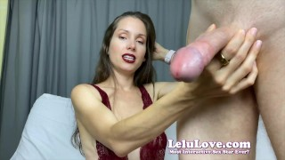 She feminizes and sissifies YOU to take turns sucking his cock til he cums in YOUR face - Lelu Love