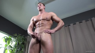 ActiveDuty - Body Building Stud Jerks His Huge Muscle Cock