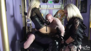 Dirty Fucking Sluts - Rough Pegging by Mistress Athena and Lady Dark Angel