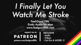 Your Hot Straight Friend FINALLY Lets You Watch Him Jack Off [Erotic Audio for Men] [Gay Dirty Talk]